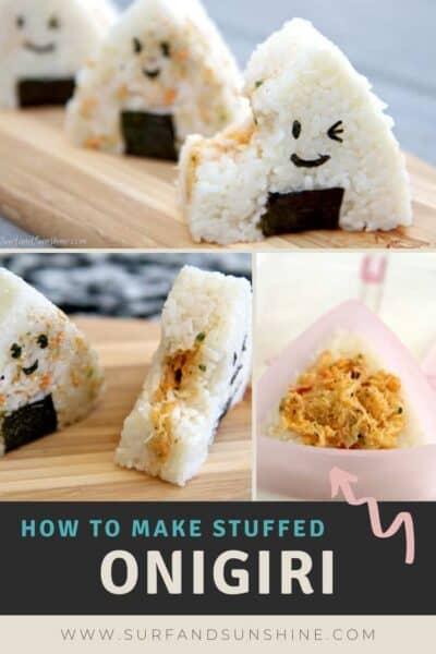 how to make stuffed onigiri rice balls