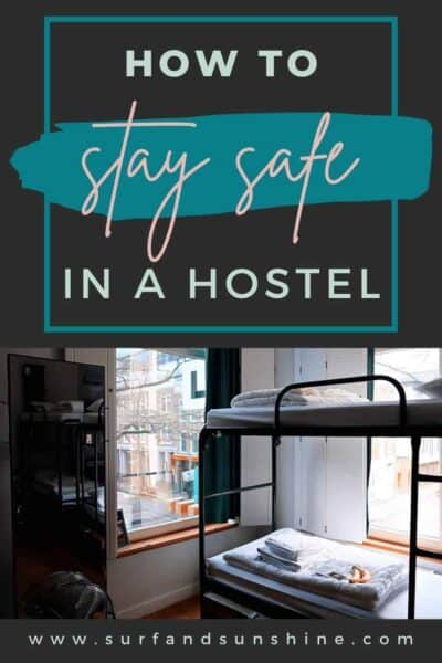 how to stay safe in a hostel