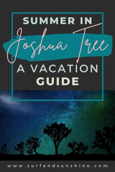 Things to do in Joshua Tree - a guide for planning your summer vacation