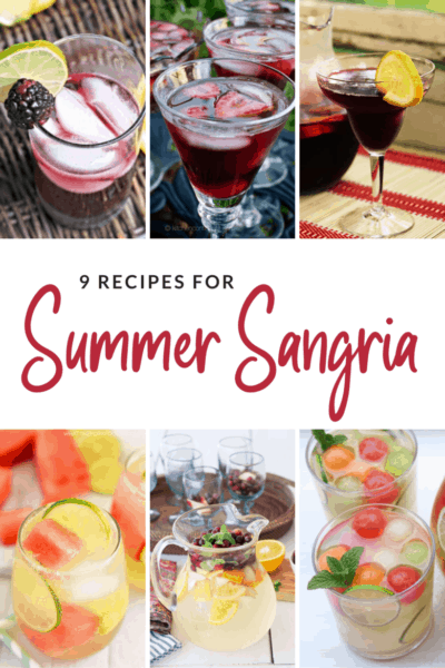 9 Summer Sangria Recipes in Both Red and White Wines