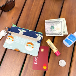 Free Sewing Pattern: 2 Zipper Coin Purse with Keyring