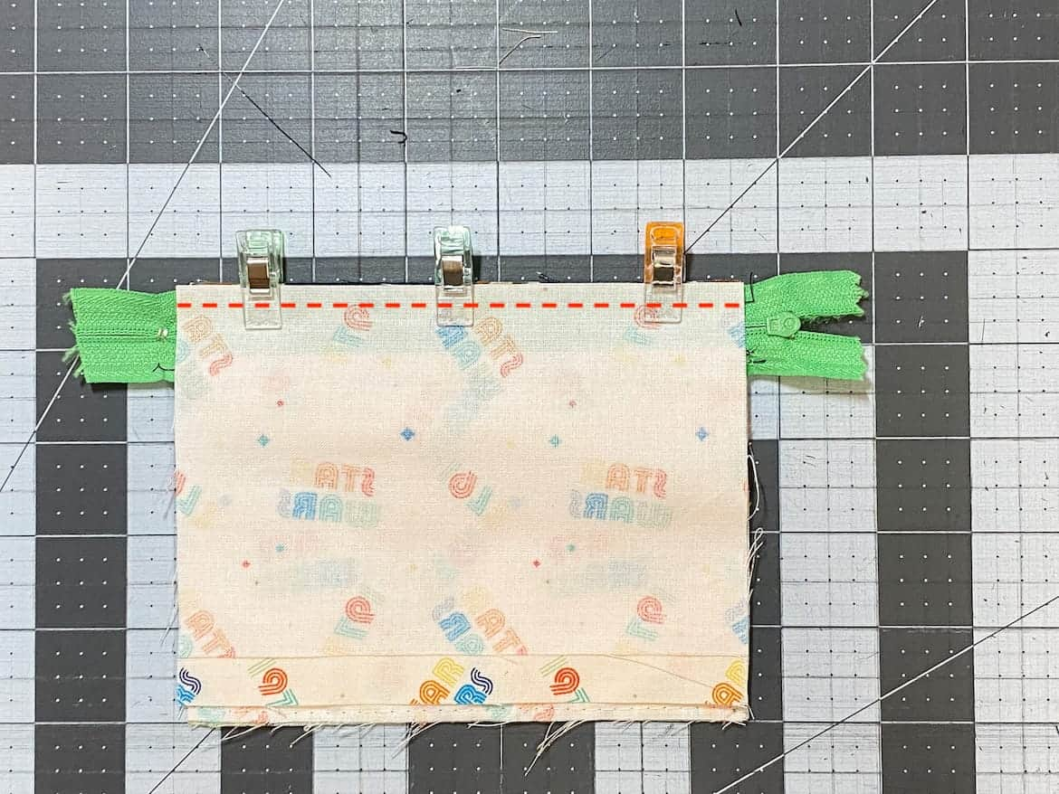 Two Zip Coin Purse Sewing Tutorial with Keyring 16b