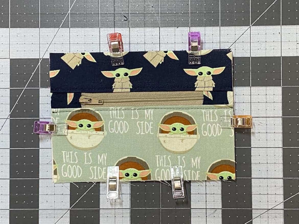 Two Zip Coin Purse Sewing Tutorial with Keyring front panel clips