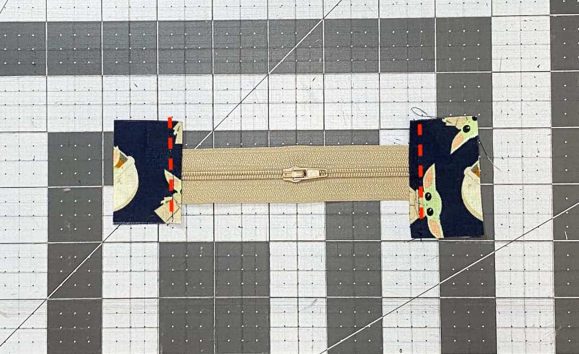 Two Zipper Coin Purse Sewing Tutorial with Keyring 1ab