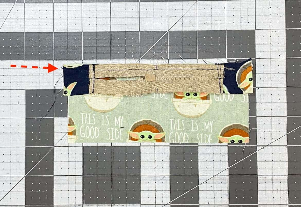 Two Zipper Coin Purse Sewing Tutorial with Keyring 1c