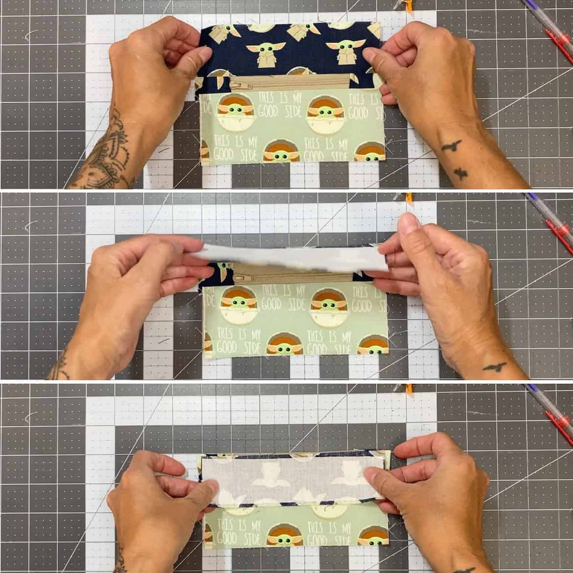 Two Zipper Coin Purse Sewing Tutorial with Keyring