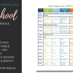 Free 4th Grade Daily Homeschool Schedule Template