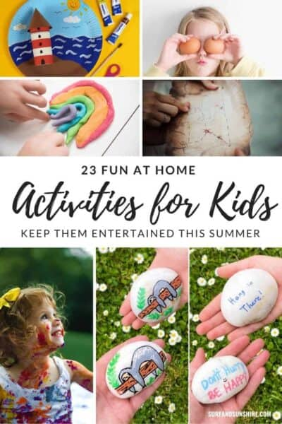 fun activities for kids at home this summer