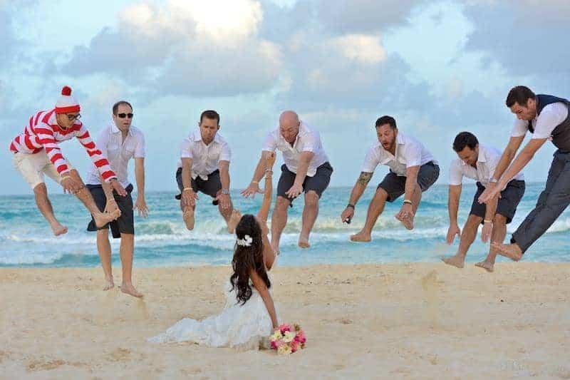 fun bridal party photo thor parody