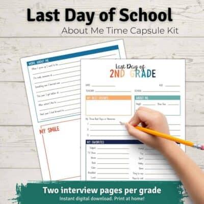 last day of school time capsule kit
