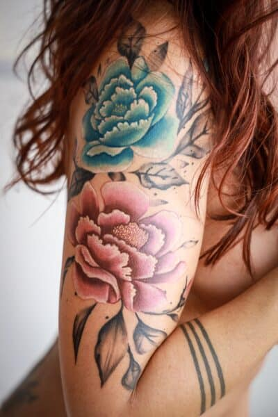 jeana tattoo asian watercolor peony