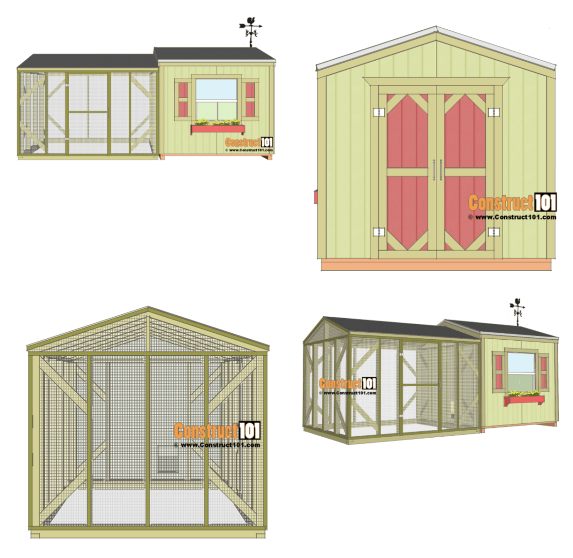 construct 101 free diy chicken coop project