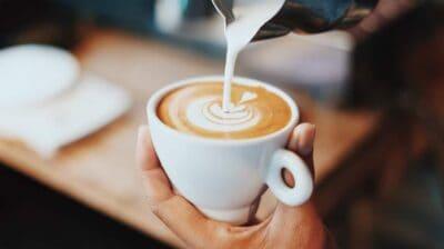 pumpkin spice latte pour