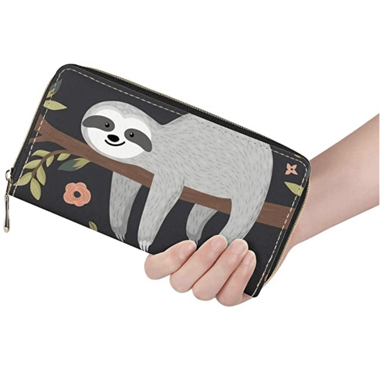 sloth travel wallet