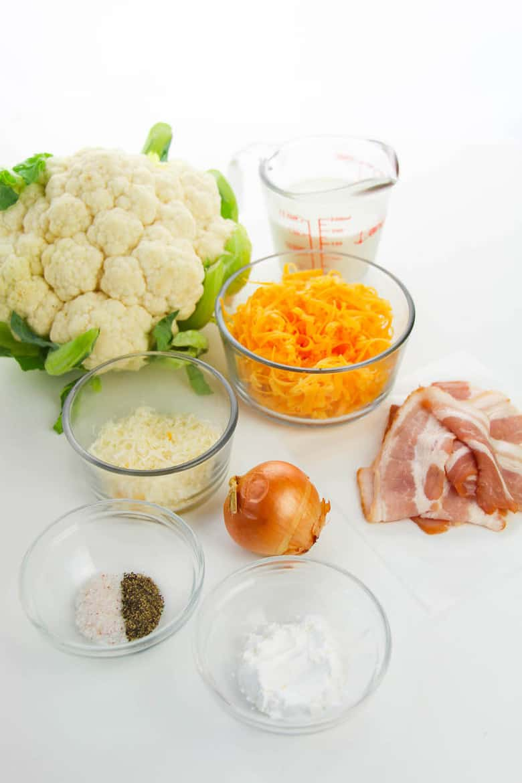 cheesy cauliflower recipe in process 1
