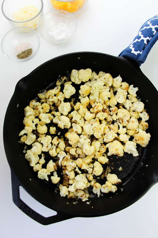cheesy cauliflower recipe in process 3