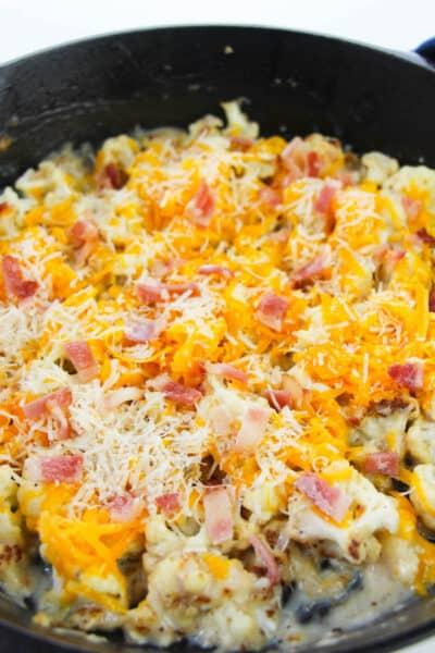 cheesy cauliflower recipe in process 7