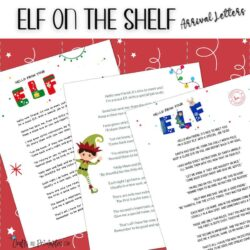 3 Free Printable Elf on the Shelf Arrival Letters