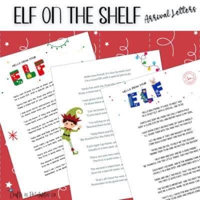 Elf on the Shelf Arrival Letters FB Mockups