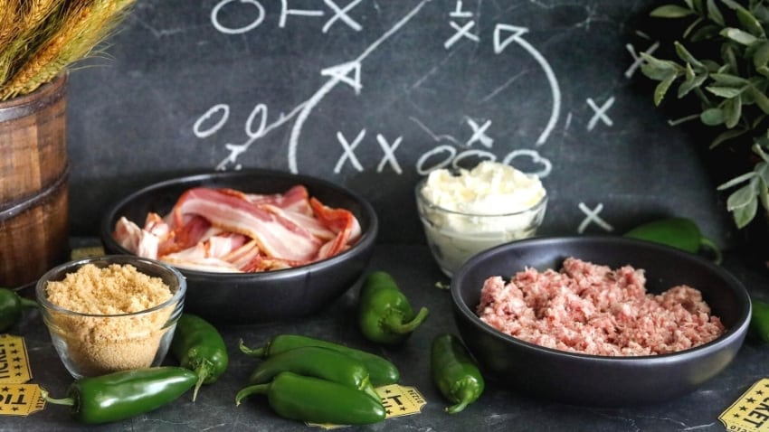 Keto Jalapeno Poppers with Sausage ingredients