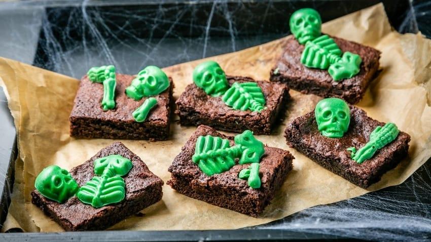 Skeleton Brownies
