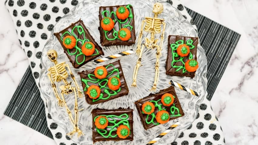 Halloween Brownie Ideas Pumpkin Patch Brownie (3)