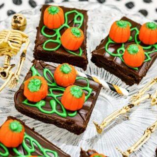 Halloween Brownie Ideas Pumpkin Patch Brownie 4