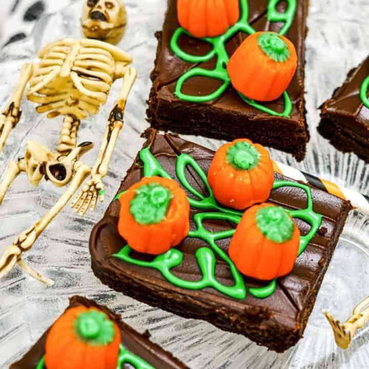 Halloween Brownie Ideas Pumpkin Patch Brownies (2)