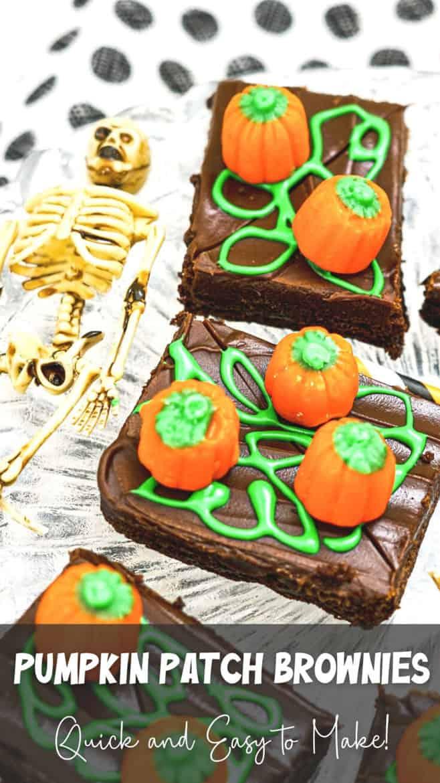 Halloween Brownie Ideas Pumpkin Patch Brownies PIN