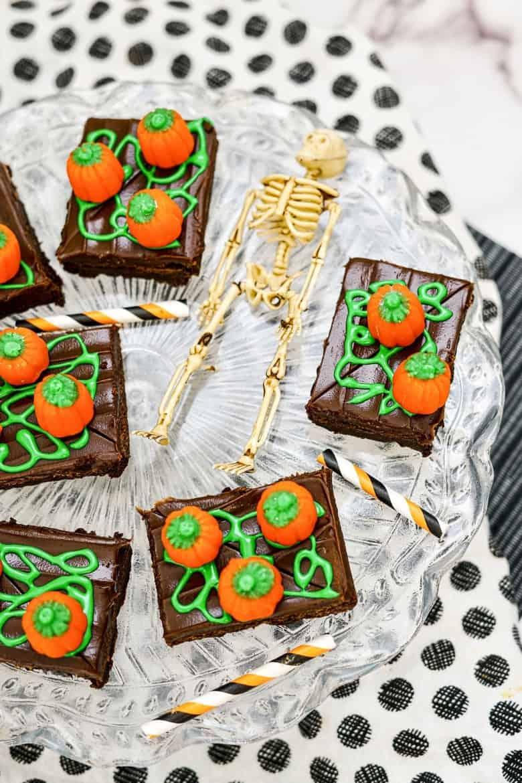Halloween Brownie Ideas Pumpkin Patch Brownies