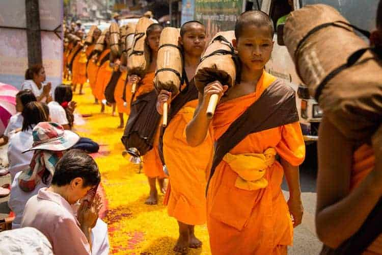 500 Monk Pilgrimage in Chiang Mai 2176