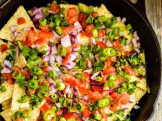 baked shrimp nachos recipe