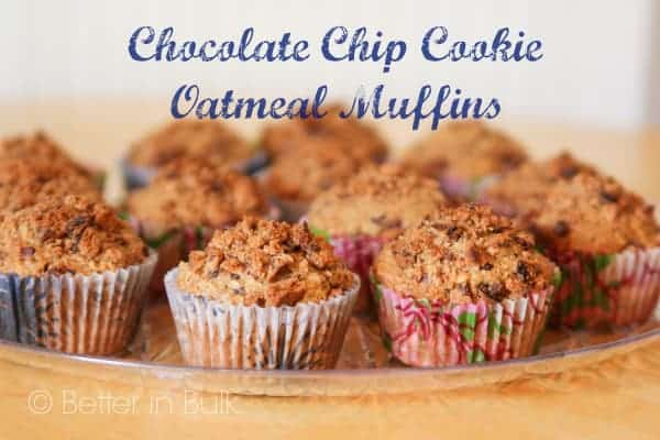 Chocolate Chip Cookie Oatmeal Muffins