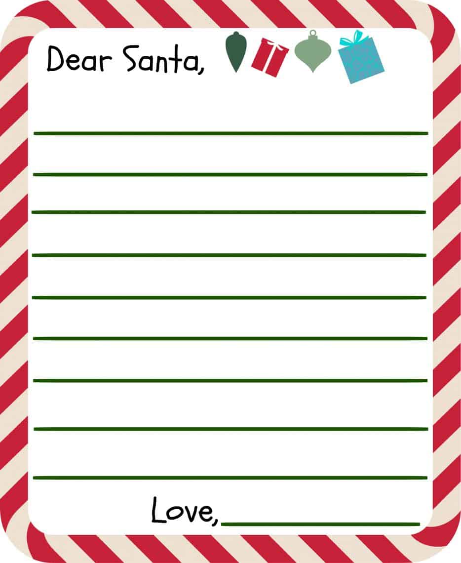 free printable letter to santa templates and how to get a reply