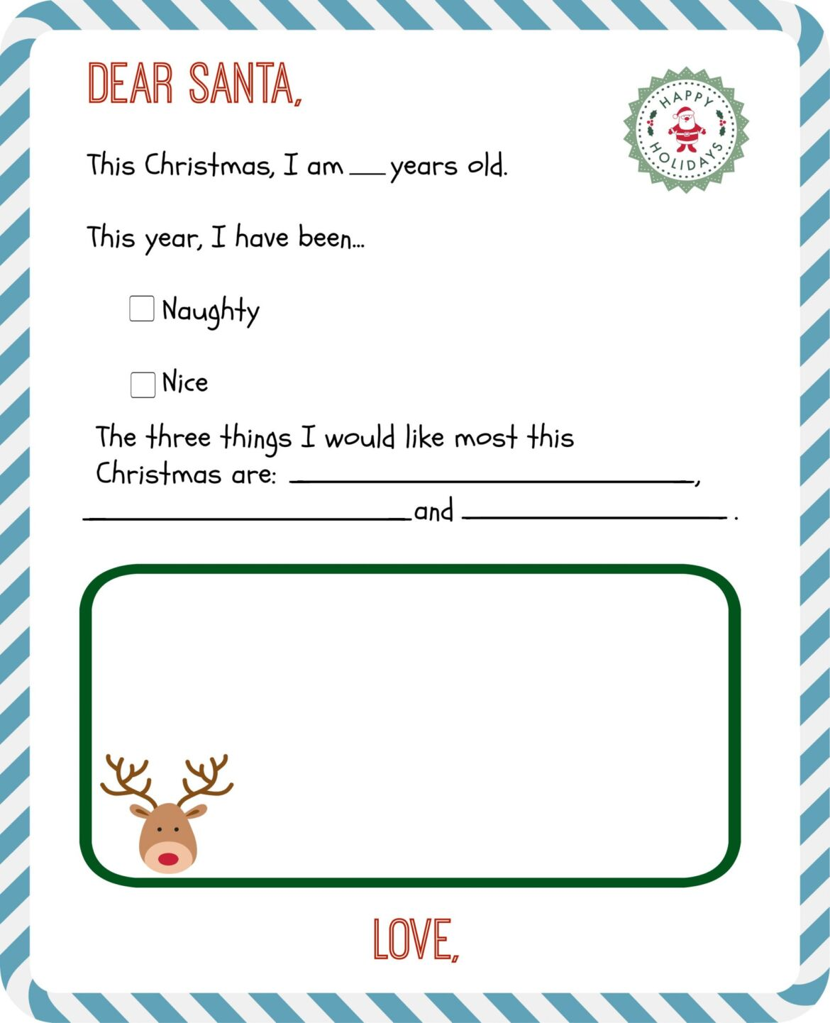 It's just an image of Resource Santa Letter Templates Free Printable