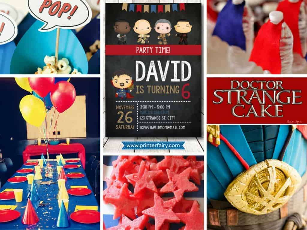 Doctor Strange Birthday Party Ideas Surf And Sunshine