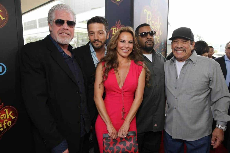 (Left to right: Ron Perlman, Diego Luna, Kate Del Castillo, Ice Cube and Danny Trejo)