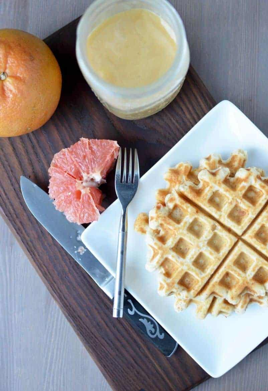 Grapefruit waffles 6