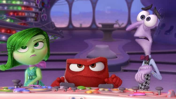 """Disgust, Anger and Fear must cope with unexpectedly being in command of Headquarters in Disney•Pixar's """"Inside Out"""". ©2015 Disney•Pixar. All Rights Reserved."""