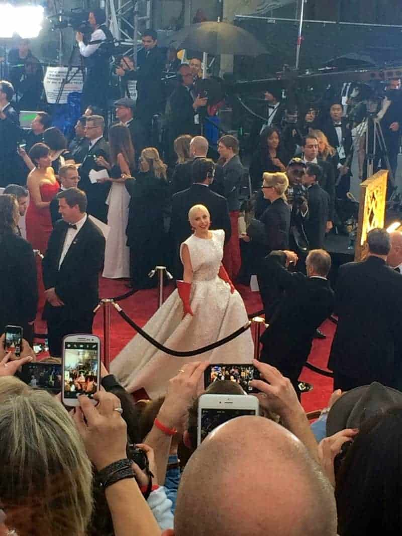 The one and only Lady Gaga, likely knowing she's about to KILL IT on stage during her Sound of Music tribute!