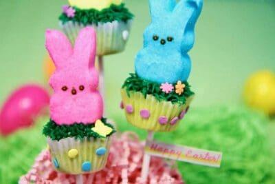 PEEPS Easter Bunny Mini Cupcake Pops Recipe 7 1