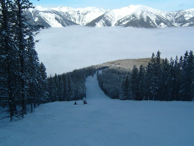 Panorama, BC skiing above the clouds.
