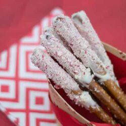 Holiday Recipes: White Chocolate Pretzels and M&Ms Chocolate Espresso Peppermint Bites
