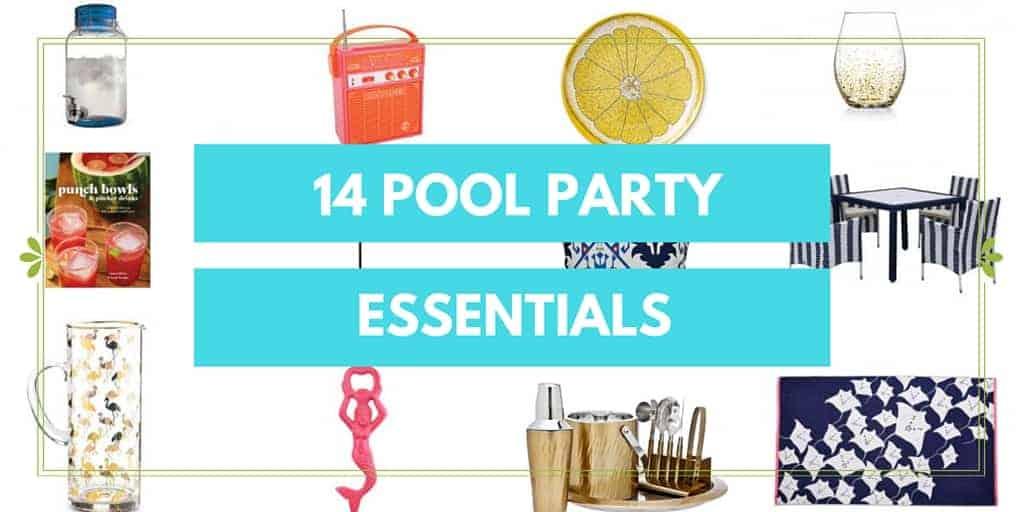 Pool party stuff