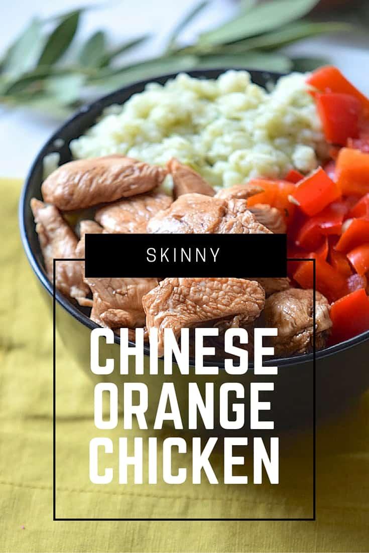 SKINNY chinese orange chicken recipe