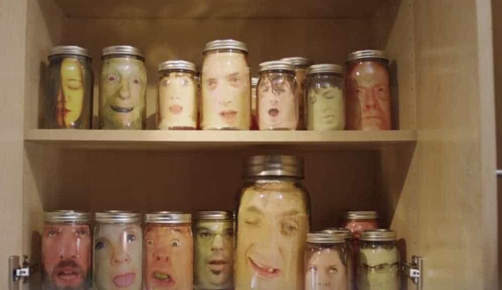 Heads in a Jar Halloween prank