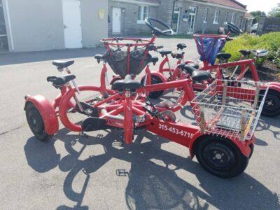 Seven person bike
