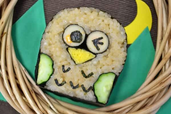 Sushi Art Owl