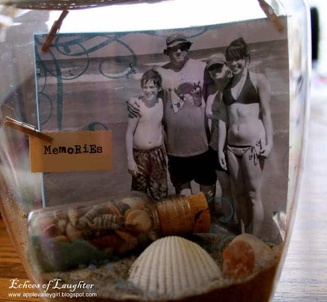 Vacation memories jar