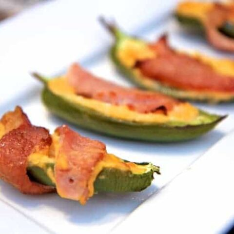 Sweet and Spicy Bacon Wrapped Jalapeño Poppers